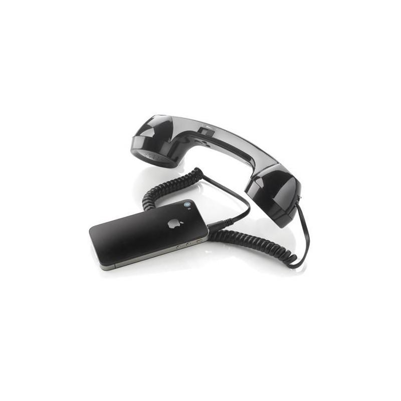 Retro slúchadlo k mobilu čierna farba