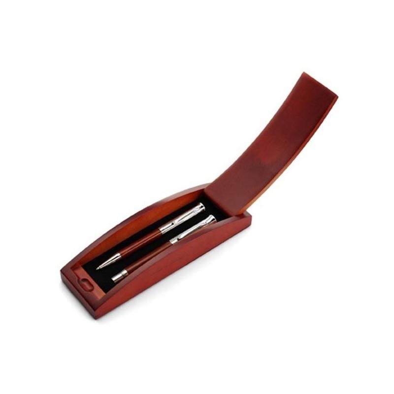 Luxusný set pero a roller v drevenej darčekovej krabičke