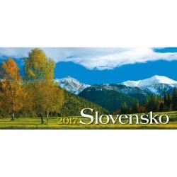 Ukážka vnútorných strán kalendára Slovensko 2017