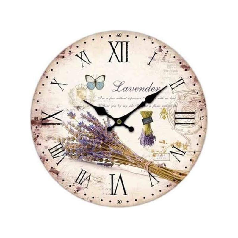 Retro hodiny s levanduľou